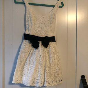 White Lace Mini Hollister Dress